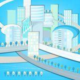01 Eco City landscape. Vector illustration of abstract eco city landscape Royalty Free Stock Photos