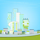 02 Eco City landscape. Vector illustration of abstract eco city landscape Royalty Free Stock Photo
