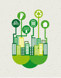 Eco  city Stock Photography