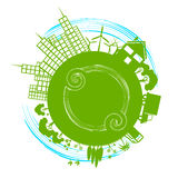 Eco City Represents Earth Day And Cityscape Royalty Free Stock Photos