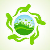 Eco- city or save nature concept Royalty Free Stock Photography