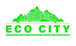 Eco city skyline. royalty free illustration