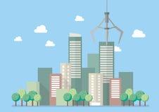 Eco city vector illustration Stock Photos