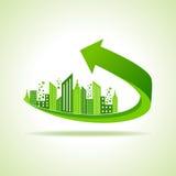 Eco cityscape -go green concept. Stock vector Royalty Free Stock Image