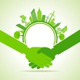 Eco cityscape -go green concept. Stock vector Stock Photo