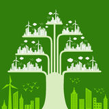 Eco cityscape make a tree Royalty Free Stock Photography
