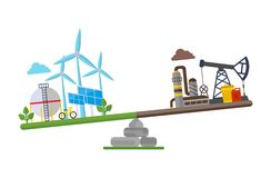 Eco clean planet more than oil plant Royalty Free Stock Photo