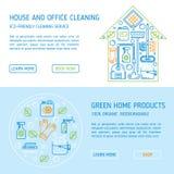 Eco cleaning wektoru pojęcie Obrazy Stock