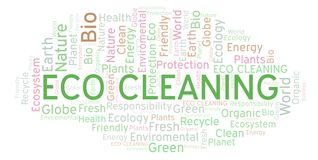 Eco Cleaning word cloud. stock illustration