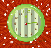 Eco clocks 2012 Royalty Free Stock Image