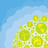 Eco cloud background Royalty Free Stock Photo