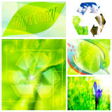 Eco collage Stock Photo