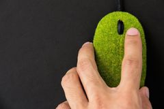 Eco computer mouse Stock Photo