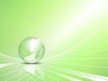 Eco concept - business background with globe Stock Image