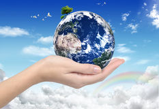 ECO Concept - Green Planet (world globe) Stock Image