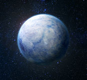 Eco concept. Planet covered with ice Royalty Free Stock Images