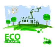 Eco concept planet Stock Photos