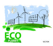 Eco concept planet Royalty Free Stock Photo