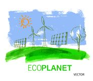 Eco concept planet Royalty Free Stock Photography