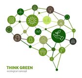 Eco Concept - Think Green royalty free illustration