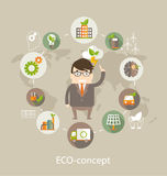 Eco concept, vector. Stock Photo