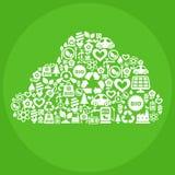 Eco Conceptuele Illustratie Stock Afbeeldingen