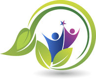 Eco couples logo Stock Photos