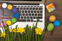 Eco creative workplace Royalty Free Stock Images