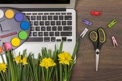 Eco creative workplace Stock Image