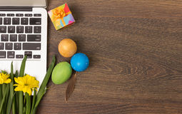 Eco creative workplace. Creative, fresh and eco friendly working place Stock Photography