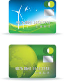 Eco credit card set Stock Photography