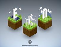 Eco cubik minimal isometric concept eps 10 Royalty Free Stock Photos