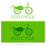 Eco cycle logo. Vector illustration. Royalty Free Stock Image
