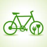 Eco cykel med proppen och hållaren Royaltyfri Foto