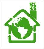 Eco czysta ziemia jest nasz domem royalty ilustracja