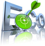Eco. 3D illustration of an eco icon Stock Photography