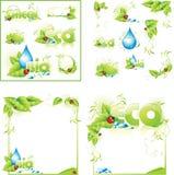 ECO de achtergrond van het lay-outconceptontwerp Stock Afbeeldingen