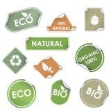 Eco de vecteur réutilisant des étiquettes illustration libre de droits