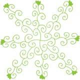 Eco del dibujo de la mano y fondo de la naturaleza de elementos de la planta Ejemplo del garabato del vector libre illustration