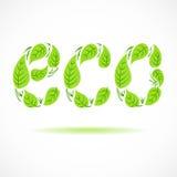 Eco der Blatthandzeichnung. Vektorillustration ENV 10 vektor abbildung