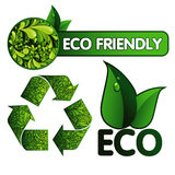 Eco Design Elements and Icons Stock Photography