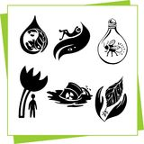 Eco Design Elements and Icons. Ecology - vector illustration. This is file of EPS8 format Royalty Free Stock Photos