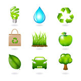 Eco Design Elements And Icons. Vector royalty free illustration