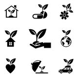 Eco Design Elements. Isolated On White Background, Vector Illustration royalty free illustration