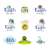 Eco design elements. Royalty Free Stock Images