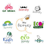 Eco design elements. Royalty Free Stock Photography