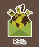 Eco design. Eco grafic  design , vector illustration Royalty Free Stock Photography