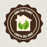 Eco design. Eco grafic design, vector illustration Royalty Free Stock Images