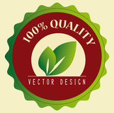 Eco design. Over cream  background  illustration Royalty Free Stock Photos