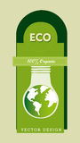 Eco design. Over green background vector illustration Royalty Free Stock Images